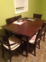 DINING TABLE AND MATCHING HUTCH