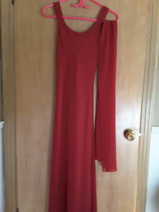 Robe rouge graduation/soirée-Red evening/graduation dress