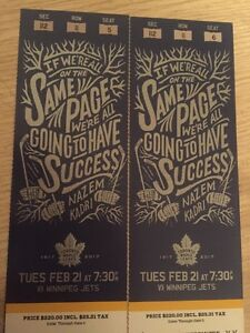 Toronto Maple Leafs Tickets- February 21