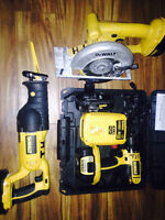 DEWALT 18v CORDLESS HANDHELD POWER TOOLS