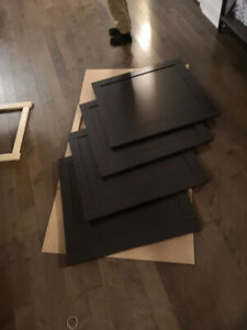 Porte brun noir pour meuble Besta