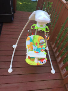 A well maintained fisher price baby swing