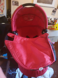 Red quinny pram top