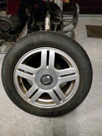 Seat Alhambra spare alloy wheel and tyre VW Sharon Ford Galaxy