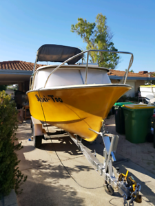 17 foot boat and trailer both licensed