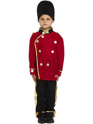 Boys Busby Guard Fancy Dress Costume Royal Soldier Uniform London Child - London Guards Kostüm