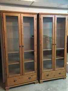 Cabinets with Glass Doors and Drawers