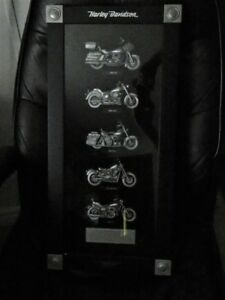 Harley Davidson shadowbox art motorcycle heritage colection 2007