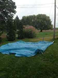 Toile solaire piscine 21 pieds sur rouleau Saint-Hyacinthe Québec image 2