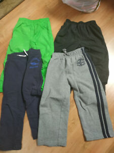 4 pairs of sweat pants, rain pants - size 4T