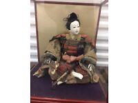 Japanese Warrior Samurai Doll.