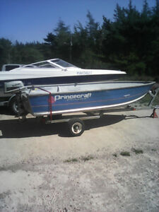 12 foot princecraft boat 4hp Suzuki motor and trailer