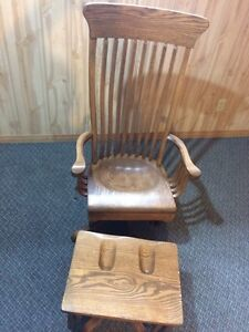 Solid Oak Glider Chair London Ontario image 6