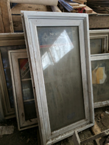 Assorted size vinyl windows