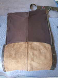 New brown leather chaps