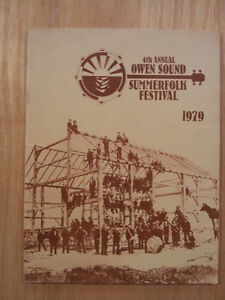 1979 Owen Sound Summerfolk program **MINT CONDITION**