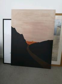 Big canvas picture