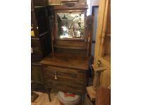 Vintage bedroom mirrored dresser