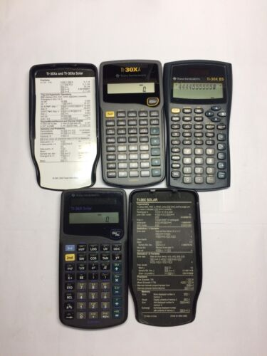 Lot Texas Instruments TI-30XIIS TI-30XA TI 36A Solar Scientific Calculator