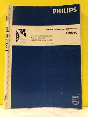 Philips 9499 440 15202 Portable Dual-trace Oscilloscope Pm3240 Operating Manual