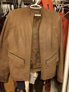 Leather roots Canada  jacket