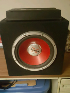 12 inch Sony Xplod Subwoofer and Amp