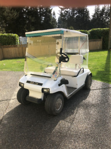 2001 White Electric Golf Cart for SALE