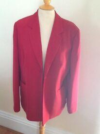 Lovely Amaranto cherry red jacket size 16