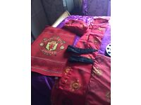 Football bedroom stuff ( man Utd ) £20