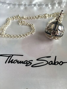 Thomas Sabo Silver Orb Pendant and  chain necklace