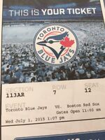 JAYS VS. RED SOX. (CANADA DAY)