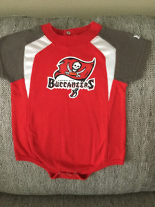 Officially licenced Tampa Bay Buccaneers Onesie 3-6 mo.size