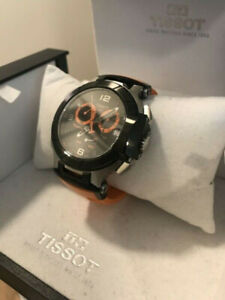 Men's Orange Tissot T-race 10/10 condition With Box Worn once