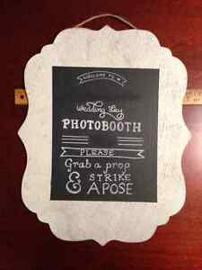 Photo-Booth Props and Sign