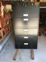 Staple's 5 drawer file cabinet