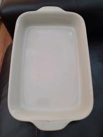 Large Denby Neutral Linen Dish
