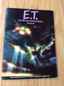 E.T. Movie Items (vintage - 1982) book, ring, trading cards