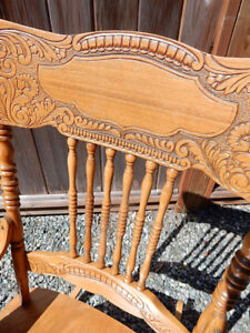 Antique Solid Maple Rocking Chair - Nice Size - Great Shape