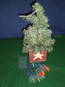Mini Christmas Tree, 13 inches with 25 Noma LED Lights