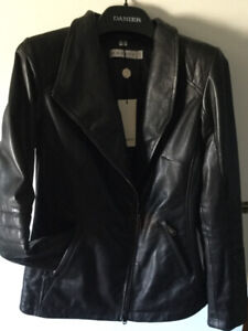 Brand New With Tags Danier black leather jacket