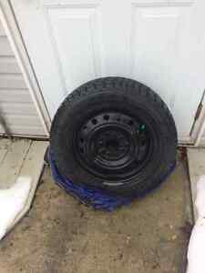 4 Goodyear Winter Nordic tires on rims , used one season.205/55 West Island Greater Montréal image 1