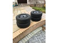 Winter tyres and wheels 215/55 R16 set of 4