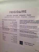 Stainless steel Fridgidaire side by side