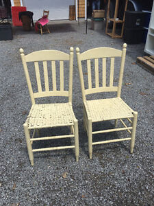 Antique white chairs