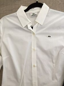 Lacoste Dress Shirt - White and Black