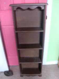 Wooden shelf unit, 45 inches by 16 and 7 inches deep
