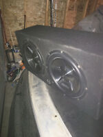 "2 12"" Clarion Subs with Box"