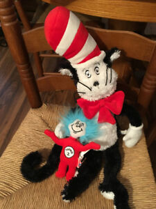 "22"" Cat in the Hat plush w/ 6"" Thing 2"