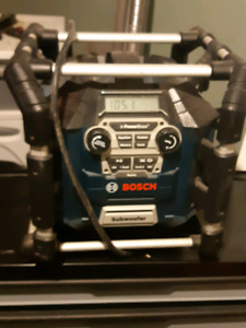 Work radio with drill