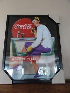 """2 Cadres Rétro de """" Coca Cola """", à vendre."""